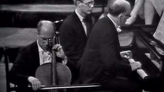 Rostropóvich e Richter interpretam Prokófiev